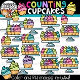 Counting Cupcakes Clipart {Math Clipart}