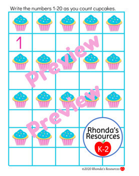 Counting Cupcakes Resource K-2