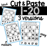 Counting Cut and Paste Worksheets (1-20)