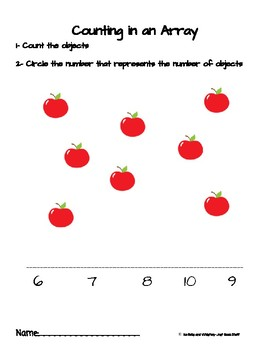 Counting Cute Pictures Arranged in Different Ways: Array, Circle, and Line