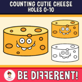 Counting Cutie Cheese Holes Clipart 0-10 Math Food Basic Operations