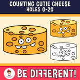 Counting Cutie Cheese Holes Clipart 0-20 Math Food Basic Operations
