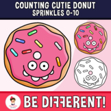 Counting Cutie Donut Sprinkles Clipart 0-10 Math Food Basic Operations Sweet