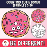 Counting Cutie Donut Sprinkles Clipart 0-20 Math Food Basic Operations