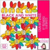 Counting Daisies clip art - BLACK AND WHITE - by Melonheadz