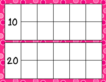 Counting Days Ten Frames and Posters - Pink Dots