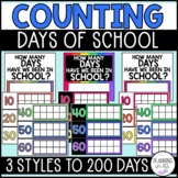 Counting Days of School Using Ten Frames Bright Colors