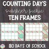 Counting Days of School | Ten Frames | Summer Picnic Theme