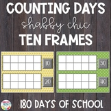 Counting Days of School | Ten Frames | Shabby Chic Theme