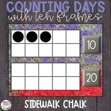 Counting Days of School | Ten Frames | Sidewalk Chalk Theme