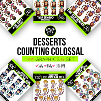 Desserts Counting Kids Clipart Bundle