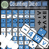 Counting Dice Set - Mega Rainbow Color Pack (9-Colors) {Messare Clips & Design}