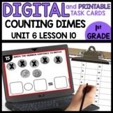 Counting Dimes | DIGITAL TASK CARDS | PRINTABLE TASK CARDS