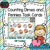 Counting Dimes and Pennies Task Cards