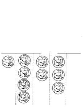Counting Dimes foldable