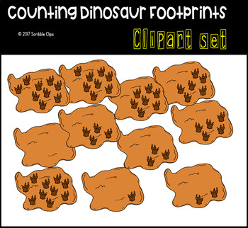 Counting Dino Footprints (scribble clips)