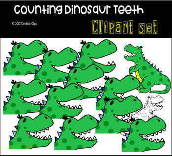 Counting Dino Teeth (scribble clips)