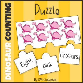 Emergent Reader Counting Dinosaurs Puzzle