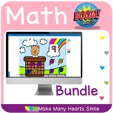 Math Boom Cards Distance Learning Games Bundle MHS421