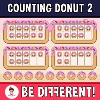 Counting Donut 2 Clipart