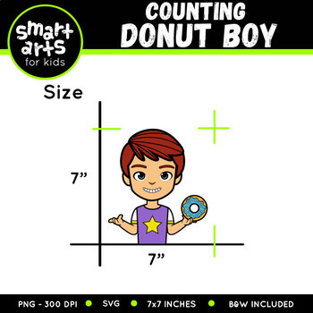 Counting Donut Boy Clip Art