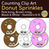 Counting Donut Sprinkles Clip Art Numbers 0-12
