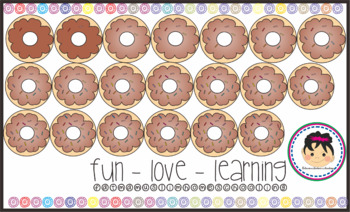 Counting Donuts 60 Clipart Springkle Counting 1-20.
