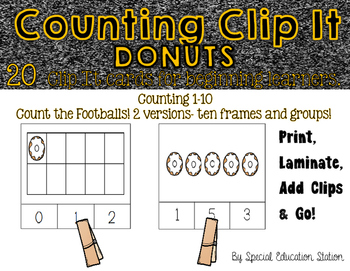 Counting Donuts Clip It {A Beginning Work Task)