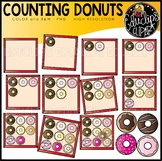 Counting Donuts Clipart Set {Educlips Clipart}