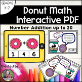 Counting Donuts Math Interactive PDF: Addition to 20