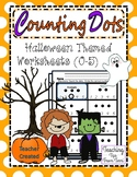 Counting Dots | Halloween Themed Math Pages (0-5)