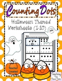 Counting Dots | Halloween Themed Math Pages (1-10)