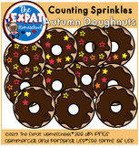 Counting Doughnut Sprinkles Math Clipart