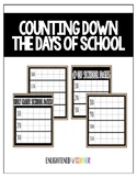 Counting Down the Days of School - (Burlap Number Chart)