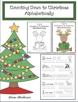 An Alphabet Booklet: Counting Down to Christmas Alphabetically