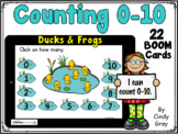 Counting Ducks & Frogs on a Pond 0-10 ~ BOOM Cards ~ Dista