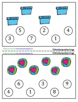 Recycle - Counting - Earth Day Activity