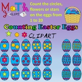 Counting Easter Eggs Clipart