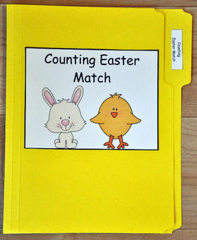 """File Folder Game--""""Counting Easter"""""""