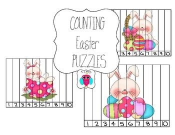 Counting Easter Preschool Puzzle