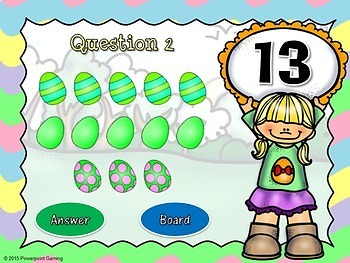 Counting Easter Eggs - Teacher vs Student Powerpoint Game