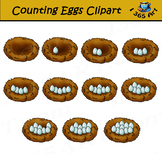 Counting Eggs In Birds Nest Clipart
