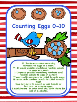 Counting Eggs- Spring Numbers and Number Words to 10
