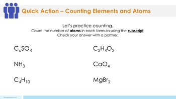 Counting Elements and Atoms Complete 5E Lesson Plan