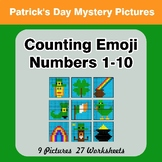 Counting Emoji | Counting Numbers 1-10 - St. Patrick's Day Color By Number