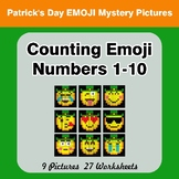 Counting Emoji | Counting Numbers 1-10 - St. Patrick's Day Emoji Color By Number