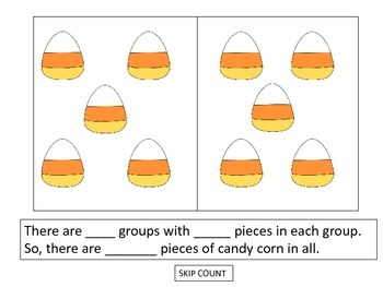 Equal Sets For Multiplication Candy Corn Theme By