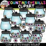 Counting Eyeballs Clipart {Halloween Clipart}