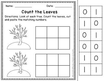 Counting Fall Leaves 0-30 Practice Set