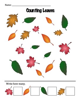 Counting Fall Leaves (0-5)